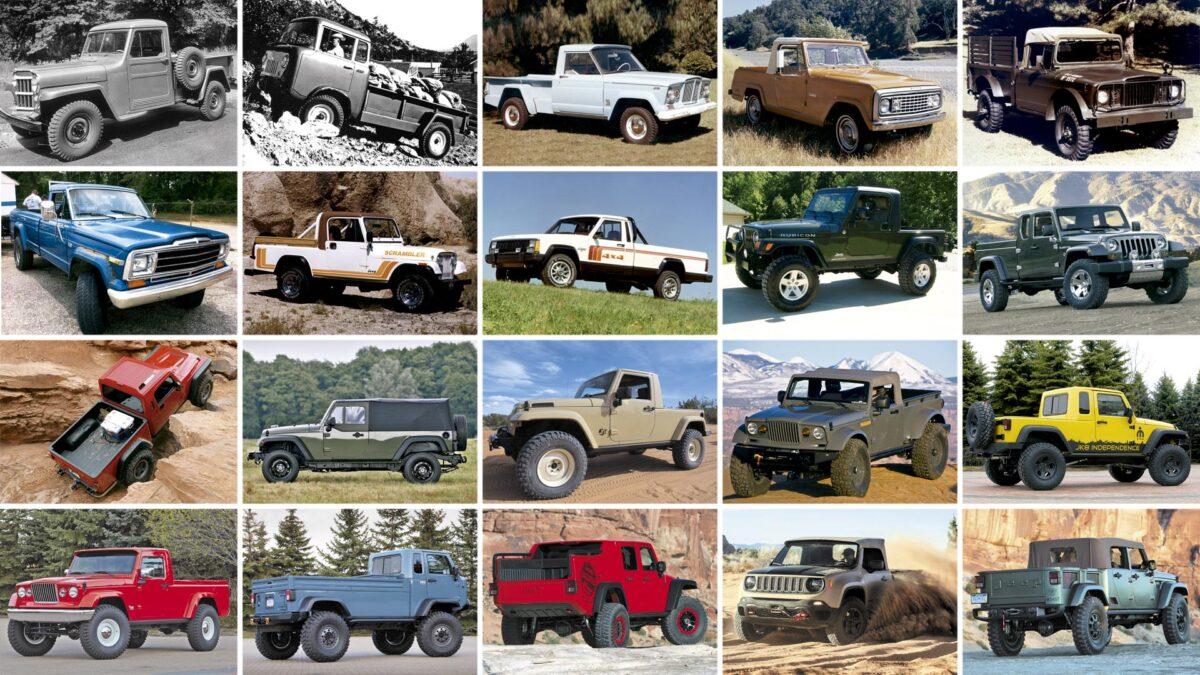 20 Jeep pick up anteriores al Gladiator