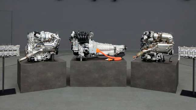 El nuevo motor de 6 cilindros de Mazda, fotografiado por primera vez