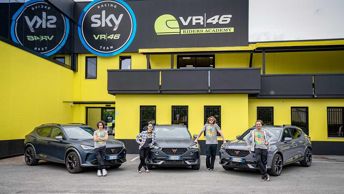 Cupra firma un acuerdo con la VR46 Riders Academy, la escuela de pilotos de Valetino Rossi