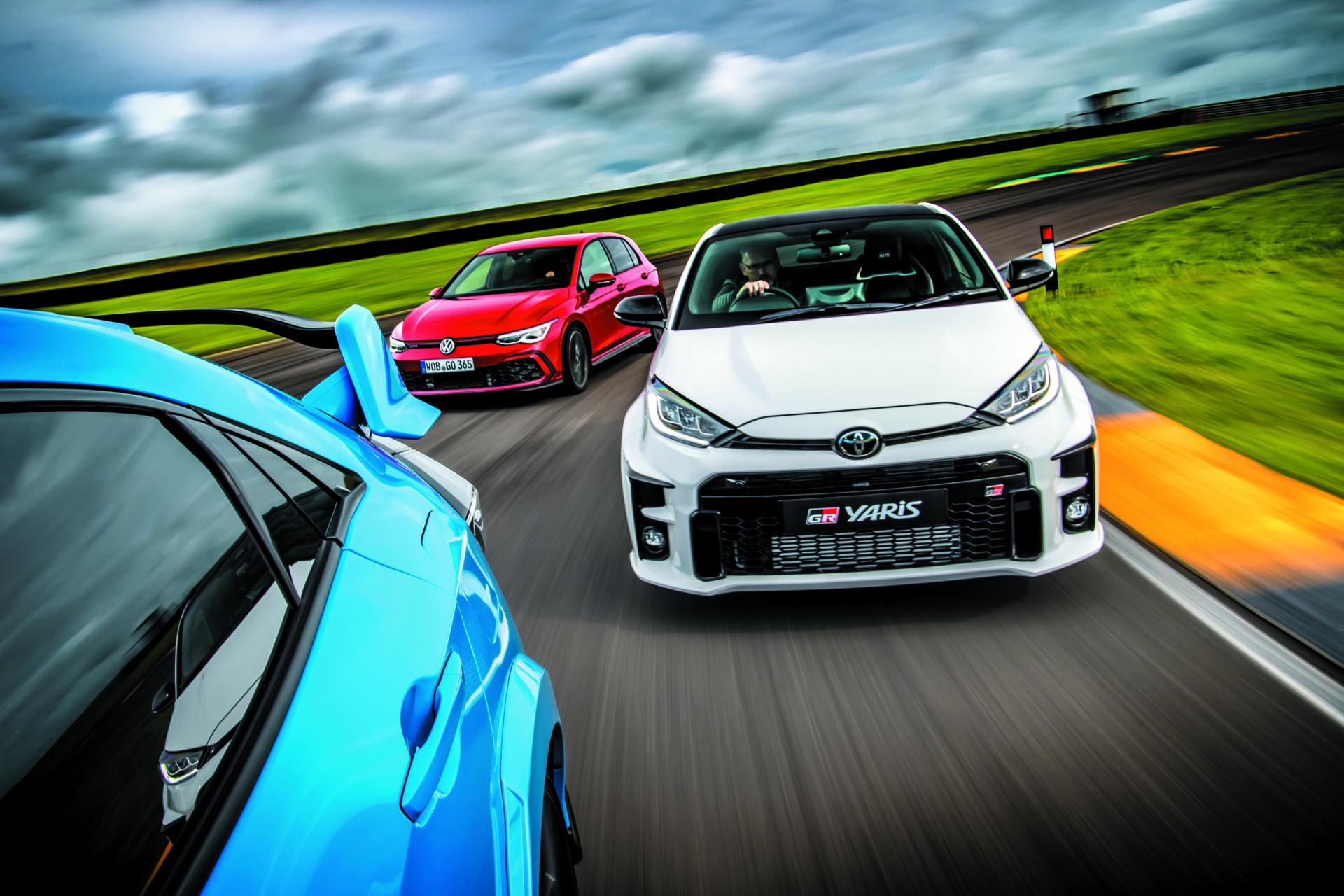 Toyota GR Yaris vs. Golf GTI vs. Honda Civic Type R