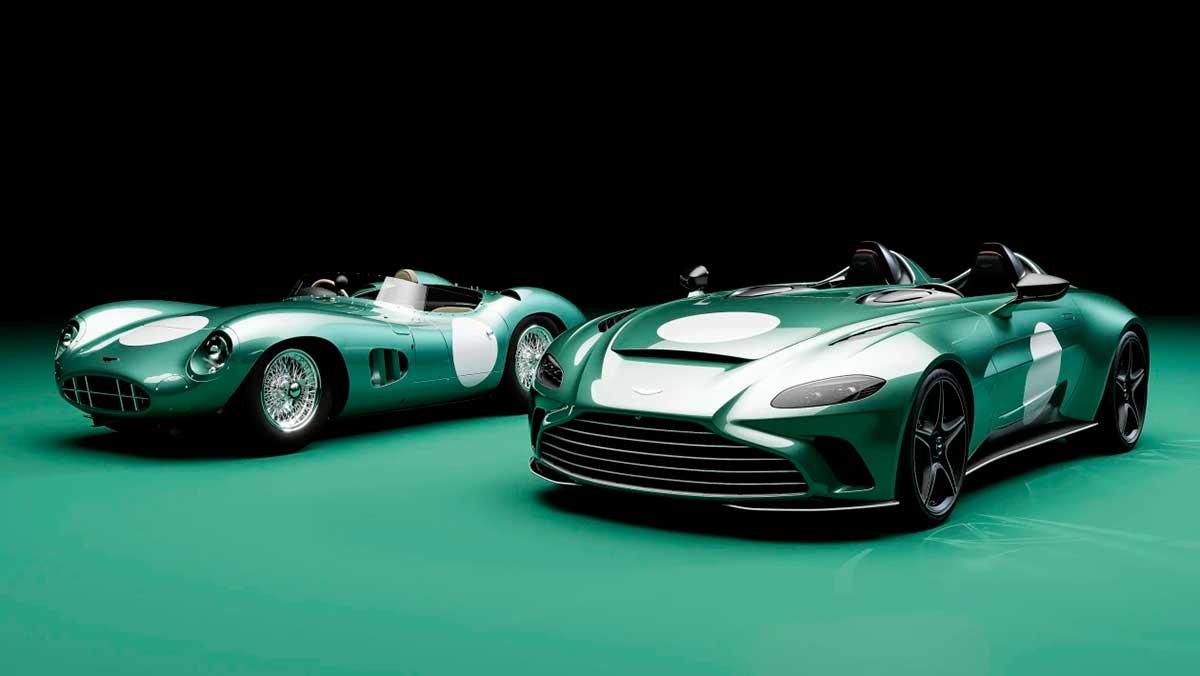 El Aston Martin V12 Speedster se viste con los colores del mítico DBR1
