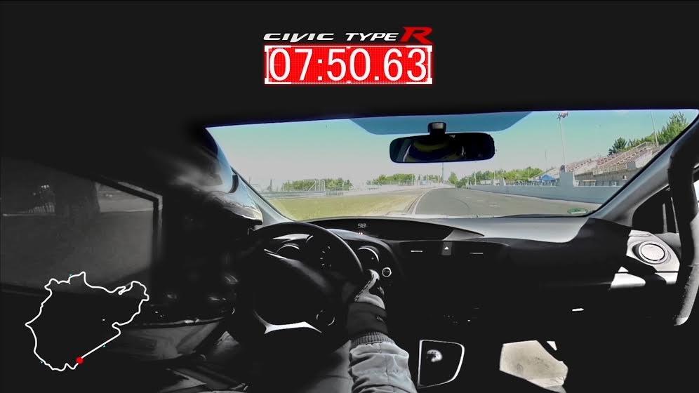El Honda Civic Type R habría batido el record de vuelta de Nürburgring