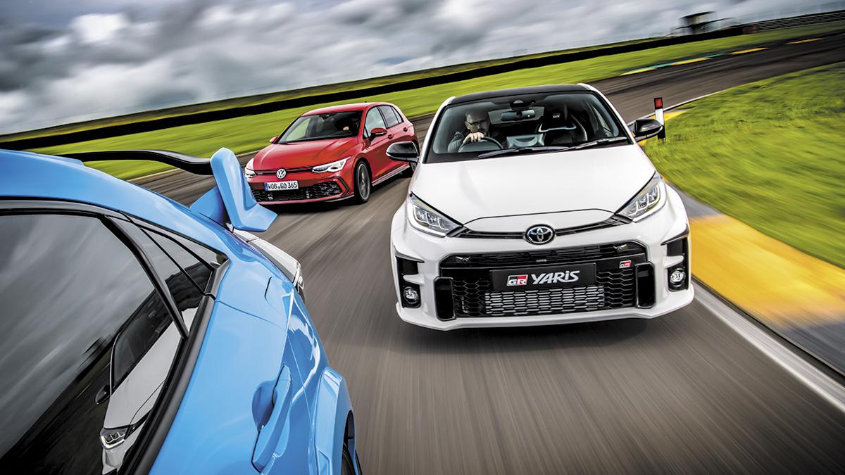 Comparativa: Toyota GR Yaris, VW Golf GTI y Honda Civic TYPE R, ¿cuál es mejor?