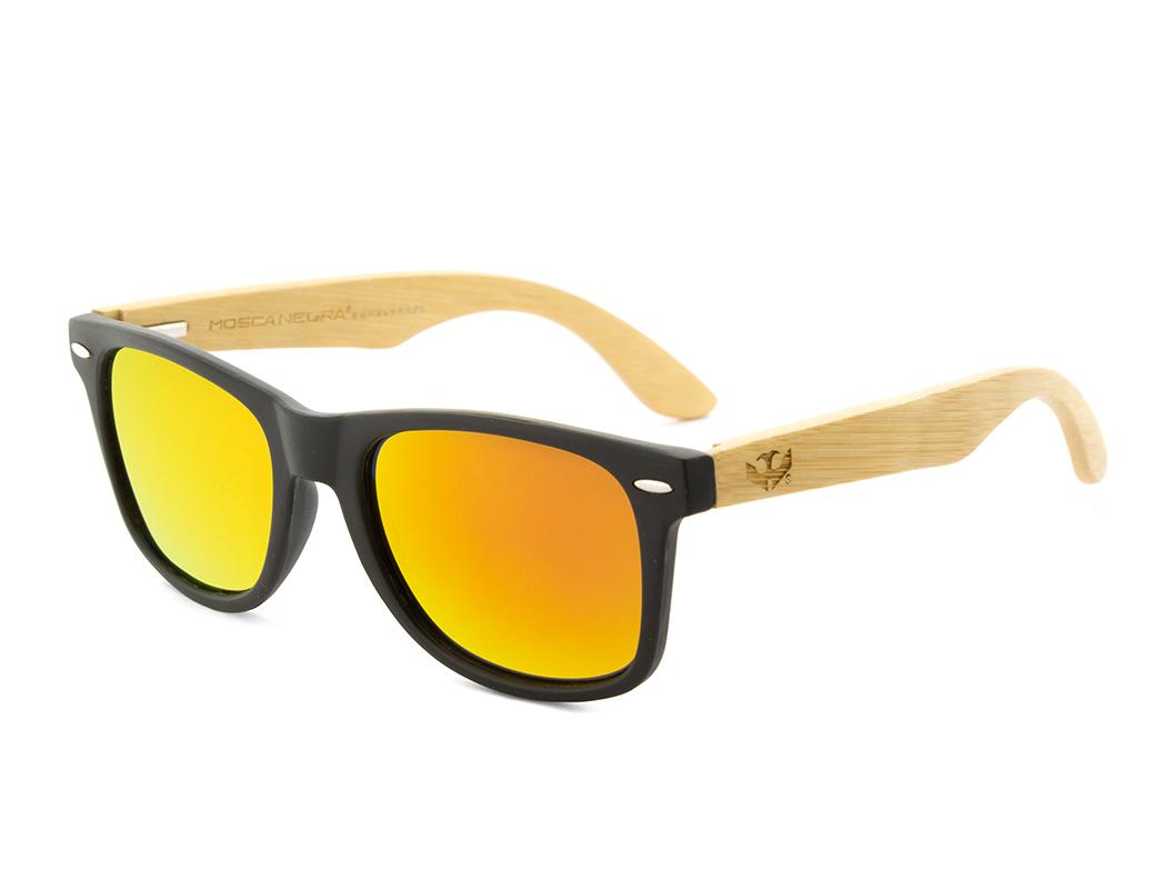 gafas de madera mosca negra mix black solid