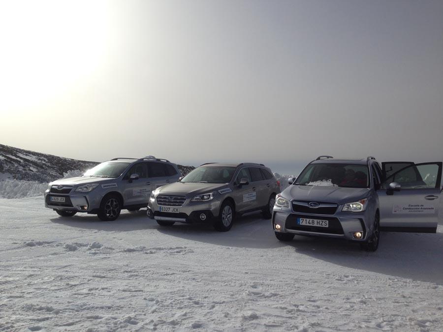 Nueva escuela de conducción invernal en la sierra de Madrid… o casi