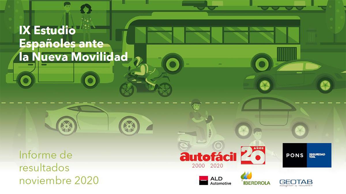IX Estudio «Españoles ante la Nueva Movilidad»: Los vehículos ecológicos ganan la batalla al transporte público