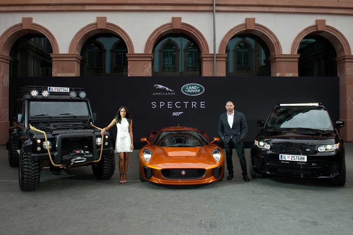 Jaguar y Land Rover presentan los nuevos coches de Bond