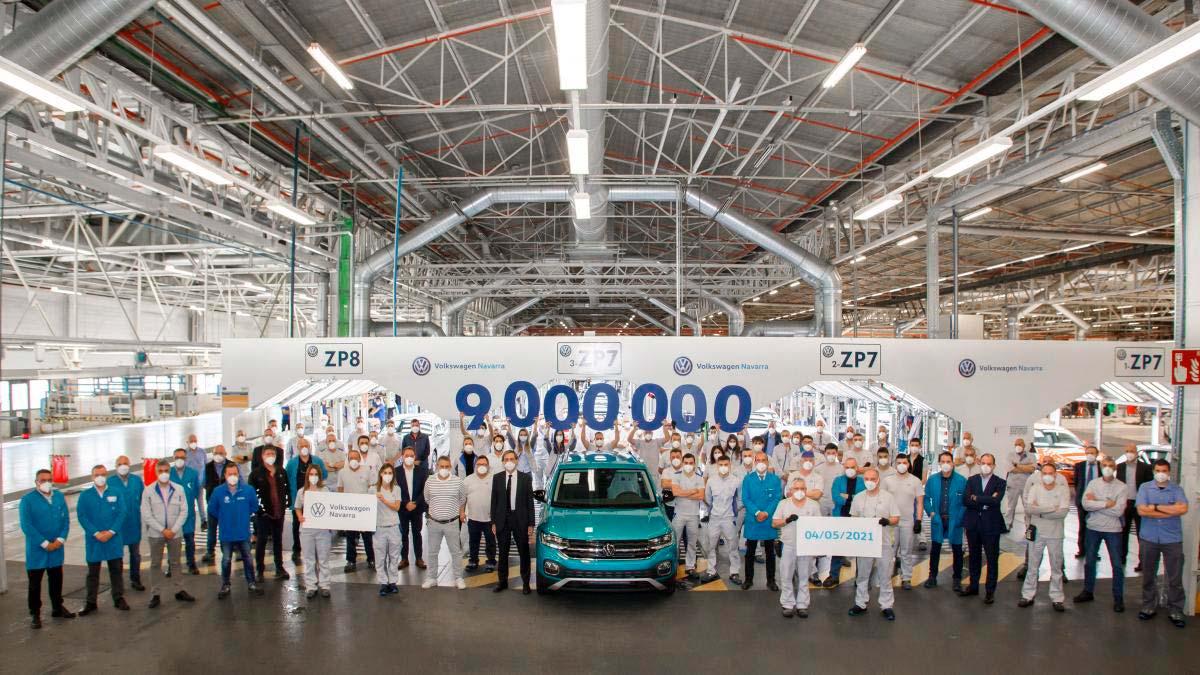 La planta Volkswagen Navarra celebra la producción de 9 millones de coches