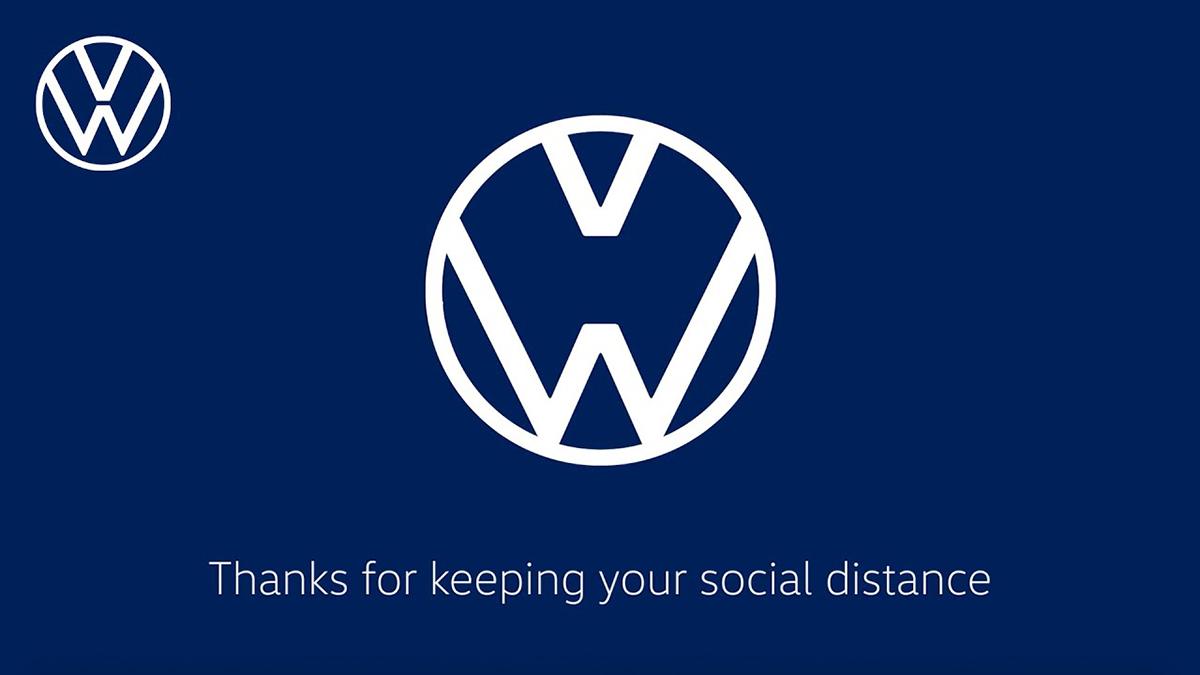 Coronavirus: Audi y Volkswagen promueven la distancia social separando sus logos