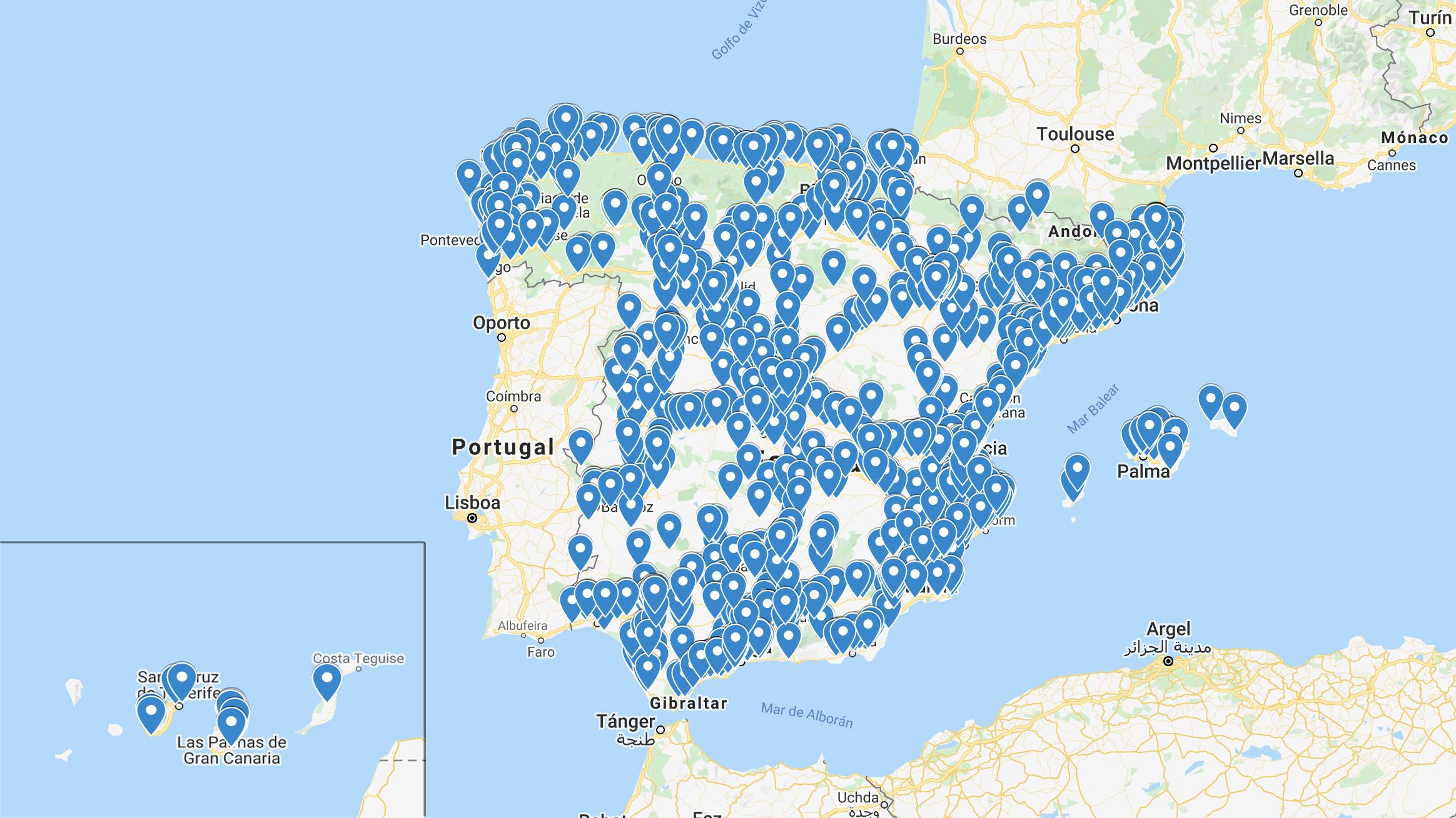 Estado de alarma: mapa de todas las gasolineras con comida rápida y duchas