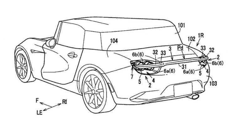 Mazda patenta un alerón desplegable