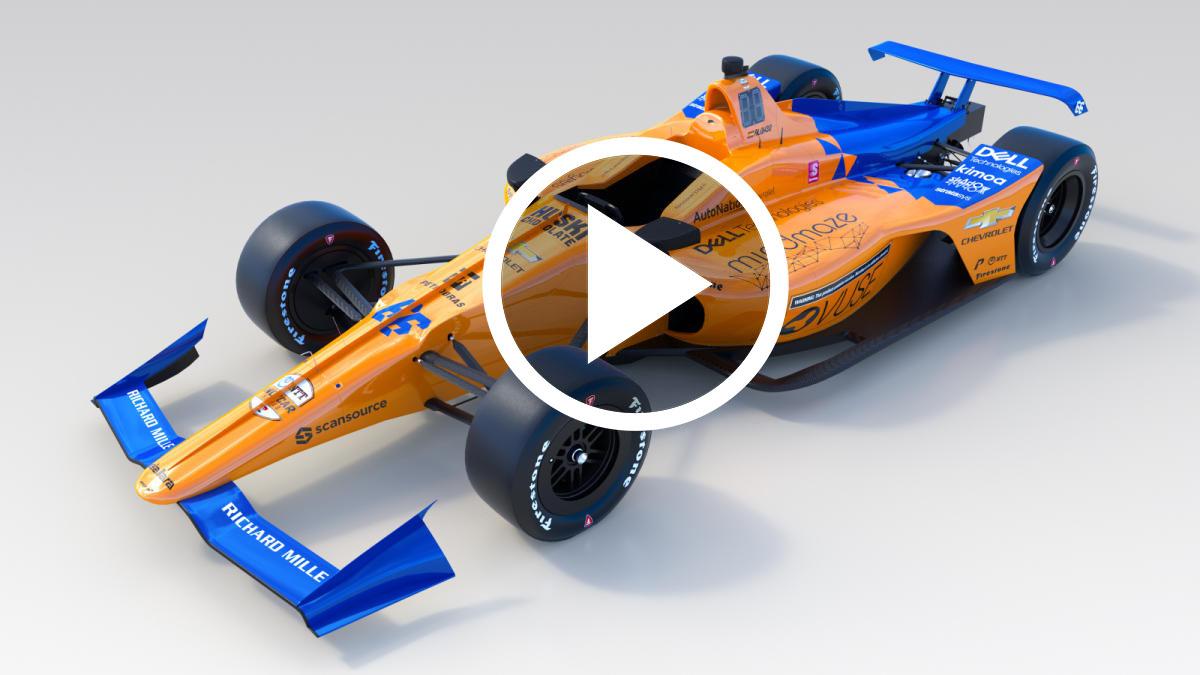 Vídeo: así es el coche de Fernando Alonso para las 500 Millas de Indianápolis