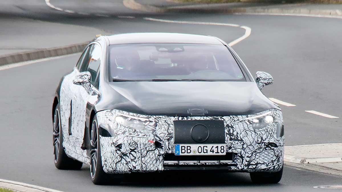 Fotos espía Mercedes-AMG EQS 2021: eléctrico, de lujo y con ADN AMG