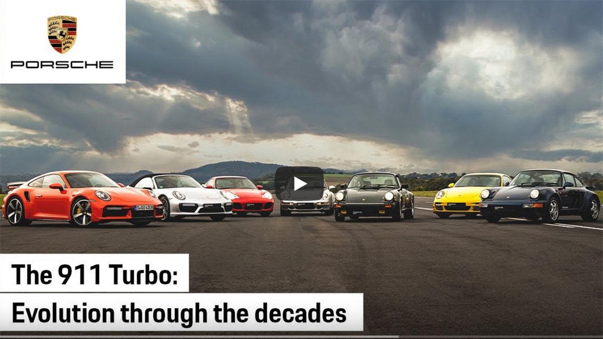 Porsche 911 Turbo: todas las generaciones, frente a frente, en una carrera de aceleración