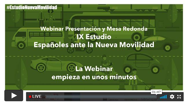 DIRECTO: IX Estudio «Españoles ante la Nueva Movilidad»: la presentación del estudio de movilidad más completo