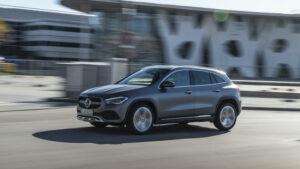 Fotos: primera prueba del Mercedes GLA 200