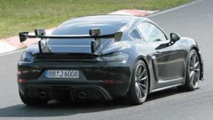 Fotos espía del Porsche 718 Cayman GT4 RS 2020