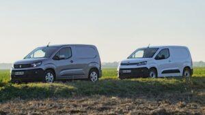 Fotos del Peugeot Partner y el Citroën Berlingo Van