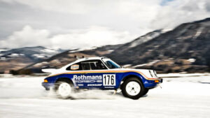 El Porsche 911 del Dakar en la nieve