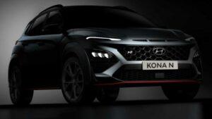 Fotos: Teaser del Hyundai Kona N 2021