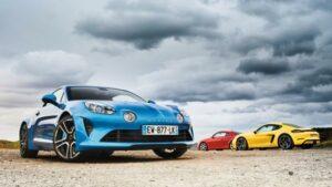 Fotos de la comparativa Alpine A110, Porsche Cayman S y Audi TT RS