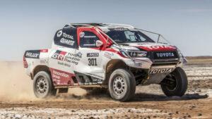 Fotos de Fernando Alonso con el Toyota del Dakar