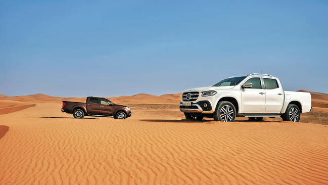 Mercedes-Benz Clase X vs Nissan Navara, comparativa en el desierto