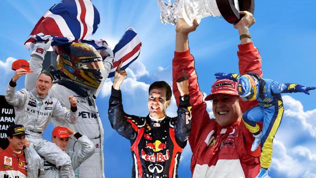 Todos los campeones del Mundo de Formula 1 (1996-2020)