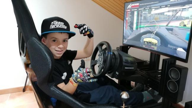 Abel Torres, el niño prodigio de las carreras virtuales