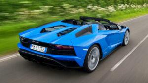 Fotos del Lamborghini Aventador S Roadster en acción