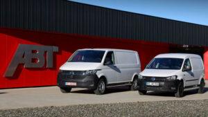 Fotos: VW e-caddy, e-Transporter y e-Crafter