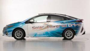 Toyota Prius PHV Solar-Powered Drive