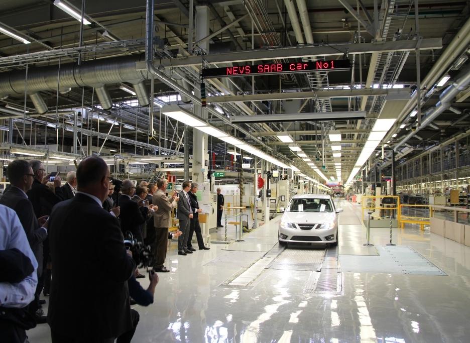 Saab vuelve al trabajo y ya produce su modelo pre-serie