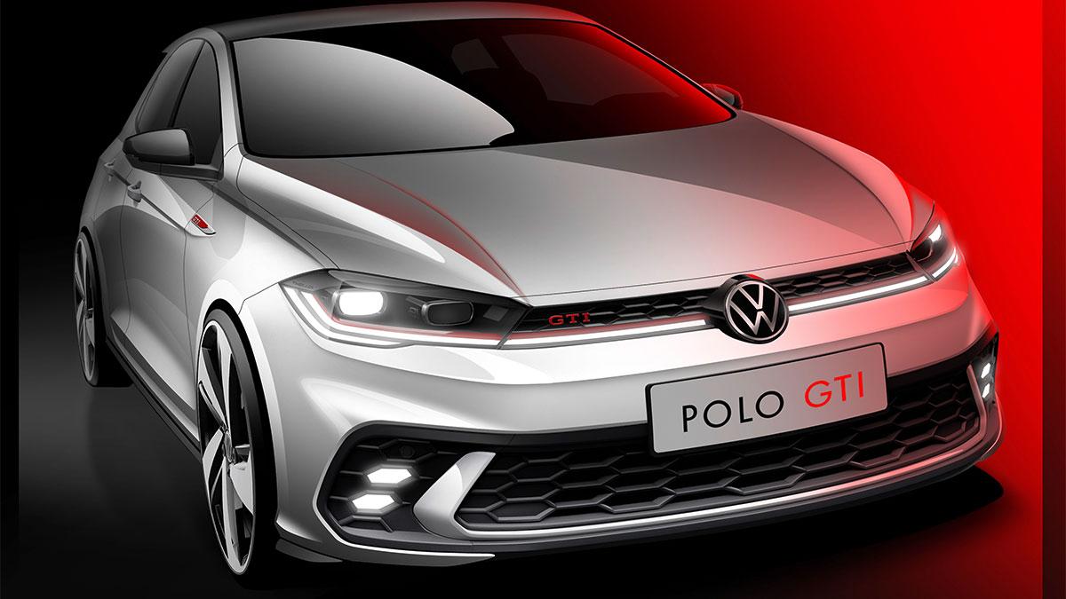 El nuevo Volkswagen Polo GTI 2021, desvelado en bocetos