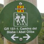 GR151. Camí Oliba. Letrero informativo