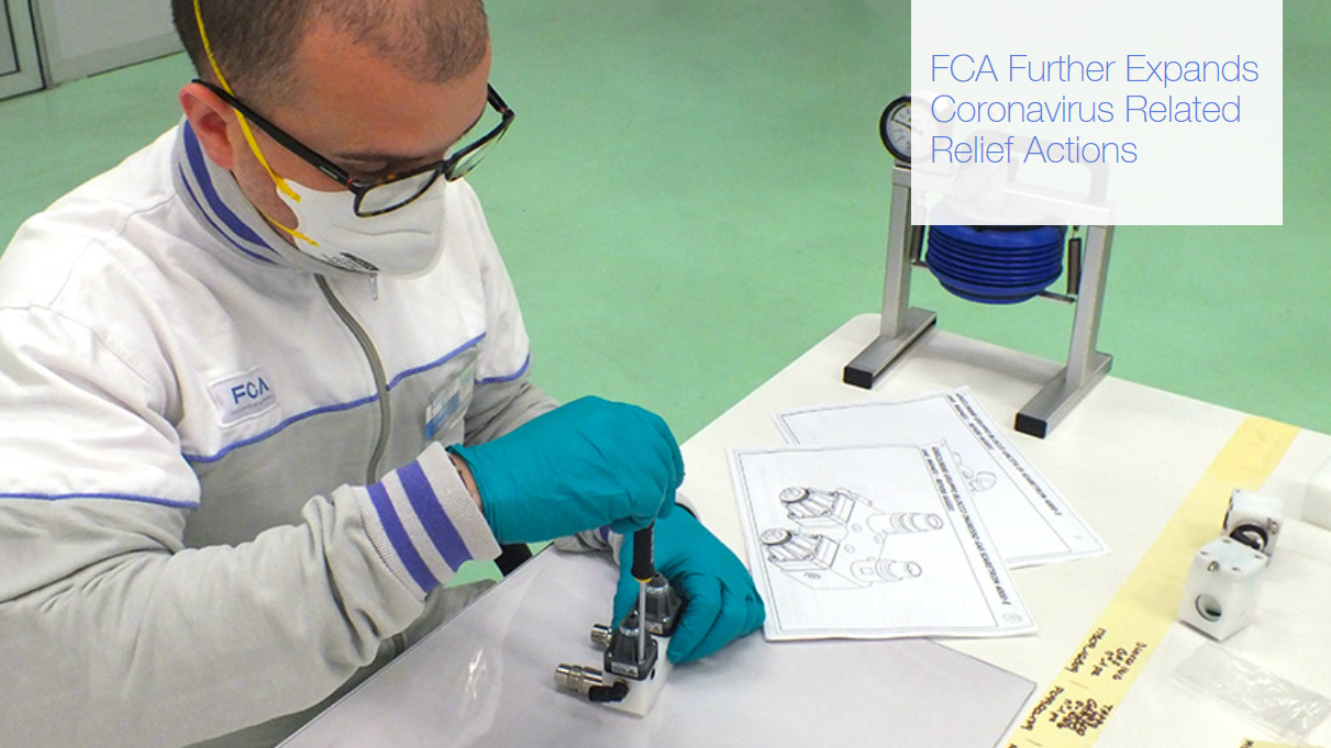 Coronavirus: FCA se asocia con Siare Engineering para la producción de respiradores