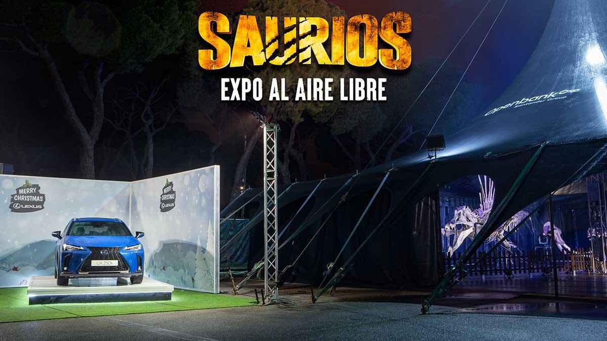 Lexus UX 250h: coche oficial de la exposición Saurios en Madrid