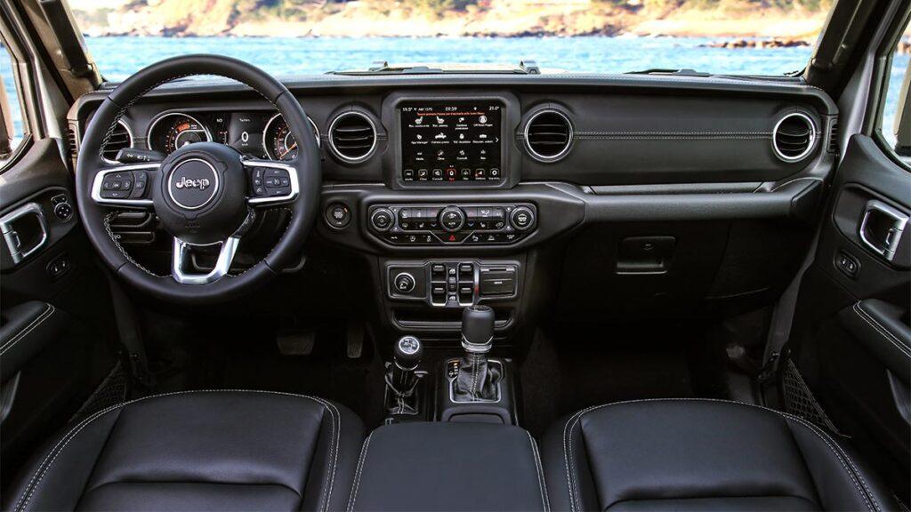 Jeep Gladiator prueba. Interior