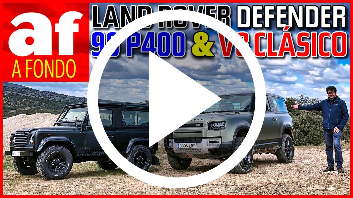 Vídeo-prueba: El Land Rover Defender 90 P400 se encuentra con el Defender 90 50th Anniversary