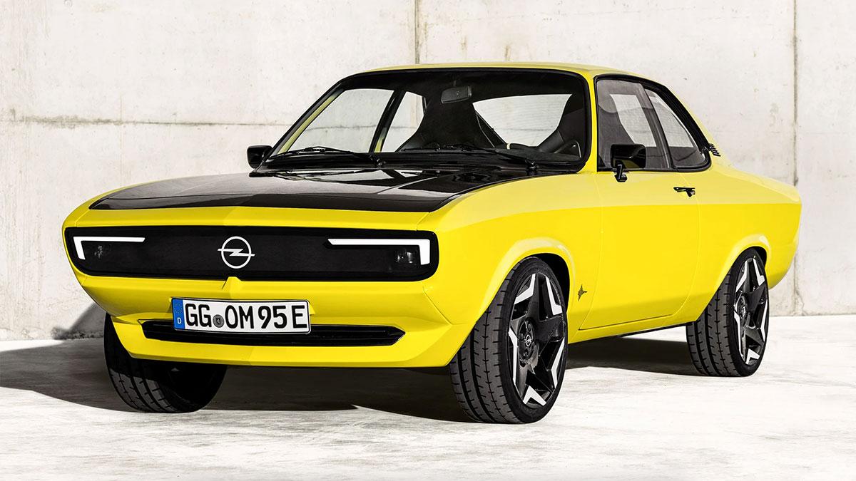 Opel Manta GSe ElektroMOD: un coupé clásico reinventado como coche eléctrico
