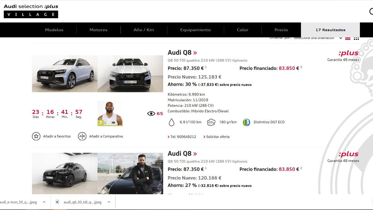 Ya puedes comprar los Audi seminuevos de los jugadores del Real Madrid de baloncesto