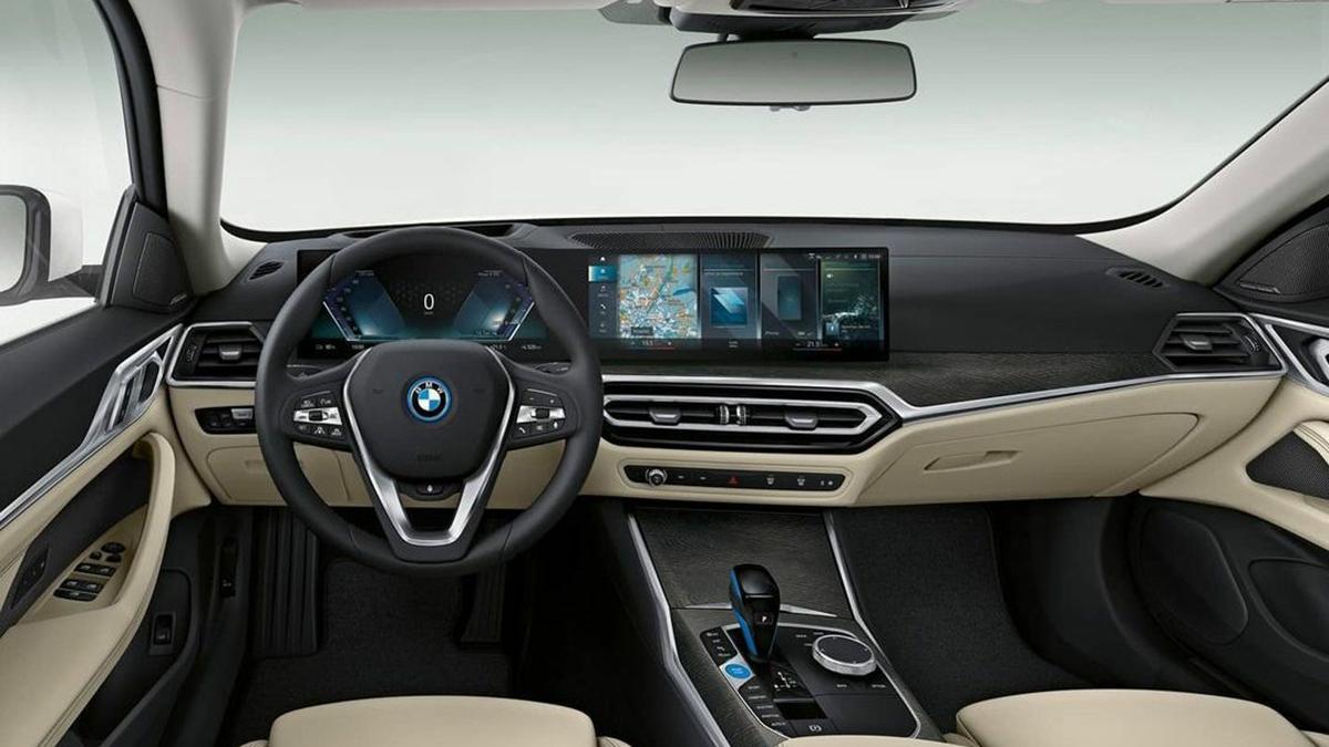 BMW i4 2022: ¿filtrado el interior de la nueva berlina eléctrica?
