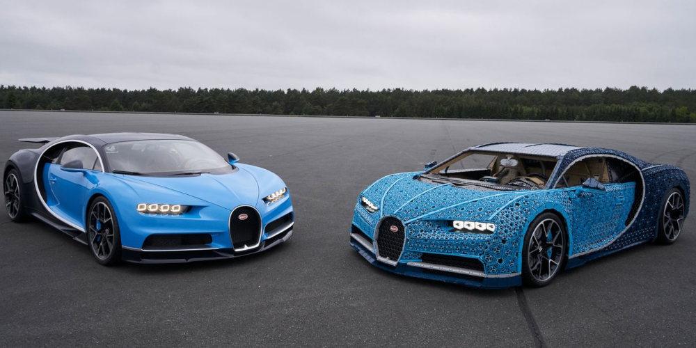 Así es el Bugatti Chiron hecho con piezas de Lego y que, además, funciona