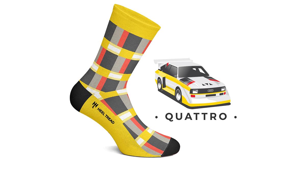 Participa en nuestro concurso y podrás llevarte unos calcetines Heel Tread del Audi Quattro