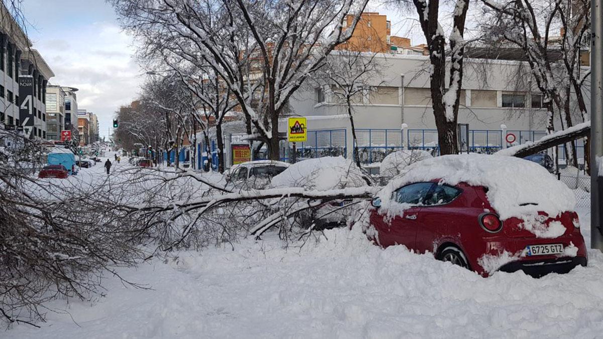 ¿Quién cubre los daños en el coche ocasionados por la borrasca Filomena?