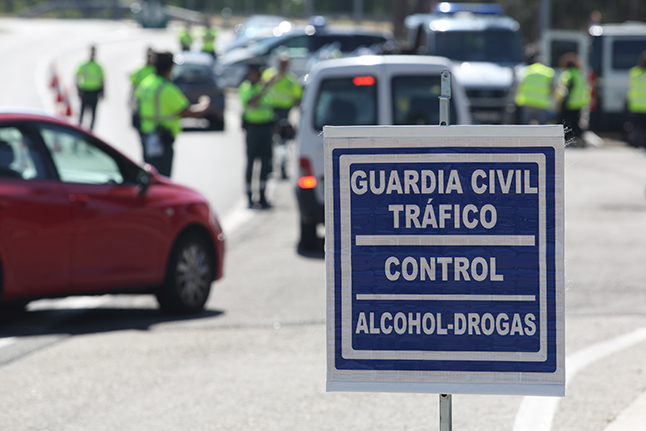 control drogas alcohol dgt