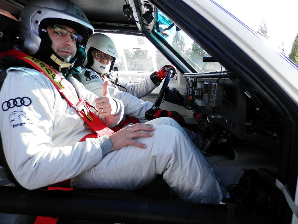 ¡¡Copilotamos el Audi Sport Quattro del Grupo B de rallys!!