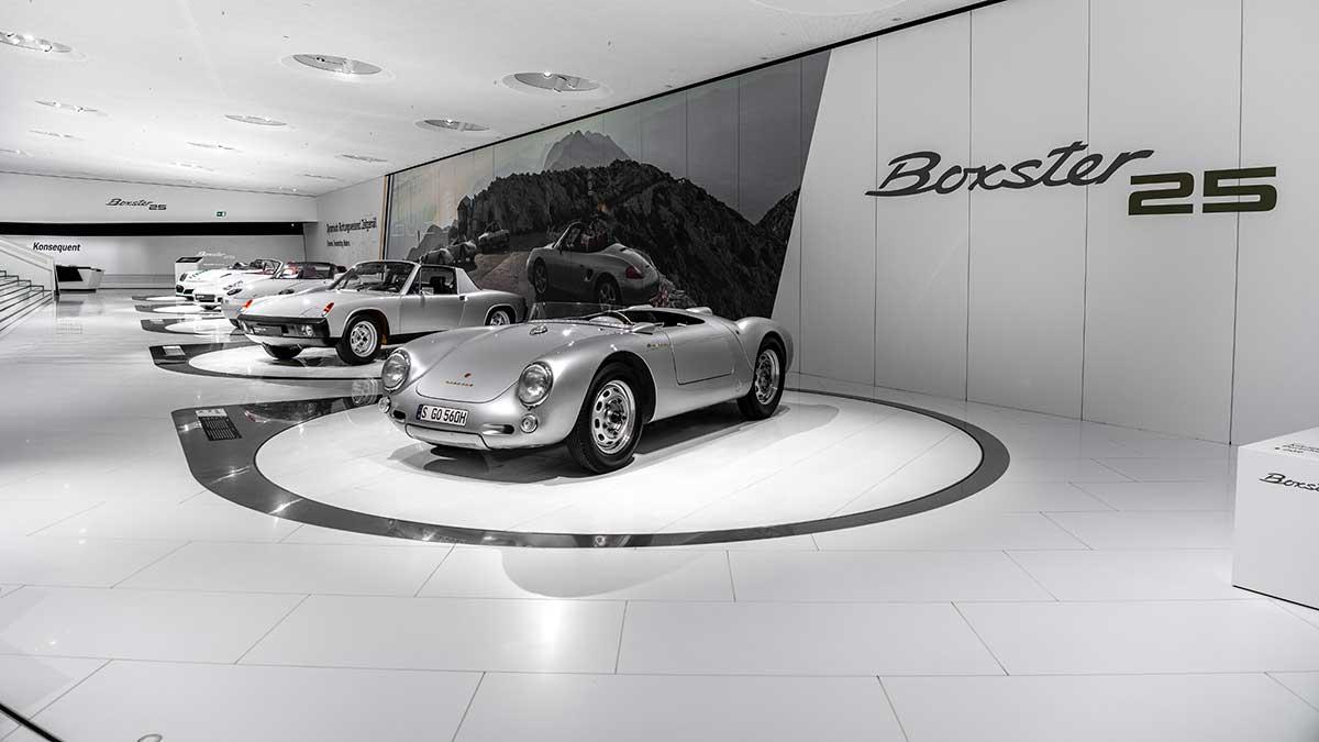 Visita guiada virtual a la exposición «25 años del Boxster» en el Museo Porsche