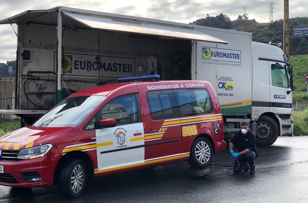 Euromaster aprovecha su flota de atención en carretera para donar material sanitario