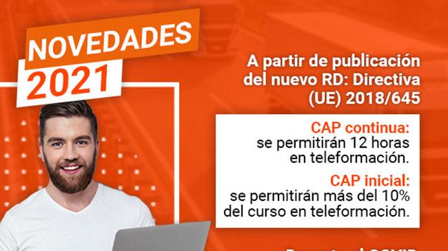Cursos CAP: Transportes comunica al Defensor del Pueblo que permitirá la formación online en los CAP Continua e Inicial